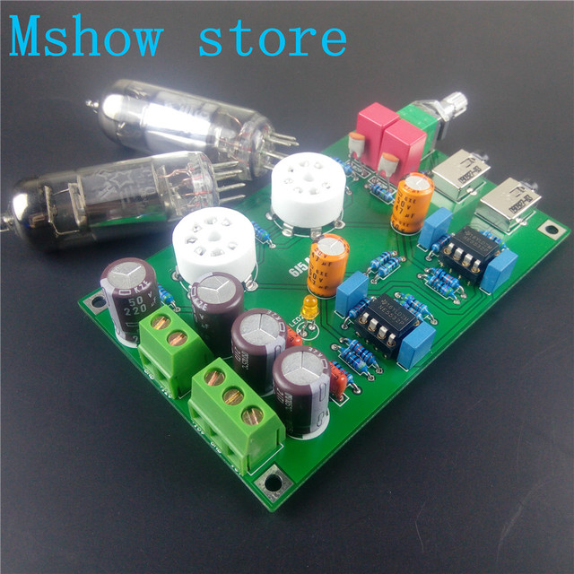 US $26 8 |Mshow Class A 6J5 Vacuum Tube Preamp Preamplifier HIFI Headphone  Amplifier Stereo audio assembled board and tested -in Headphone Amplifier