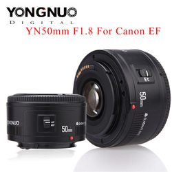 Yongnuo yn35mm f2.0 lente para canon 600d 60d 5dii 5d 5d 500d 400d 650d 600d 450d yn50mm f1.8 lente para canon eos 60d 70d 5d2 5d3 600d