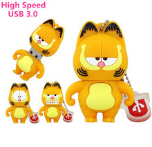 USB 3.0 Pen Drive Cartoon Garfield katze 8G 16G 32 GB 64 GB Usb Flash Drive Memory Stick Pendrive Pendriver Mini-geschenk Kostenloser Versand