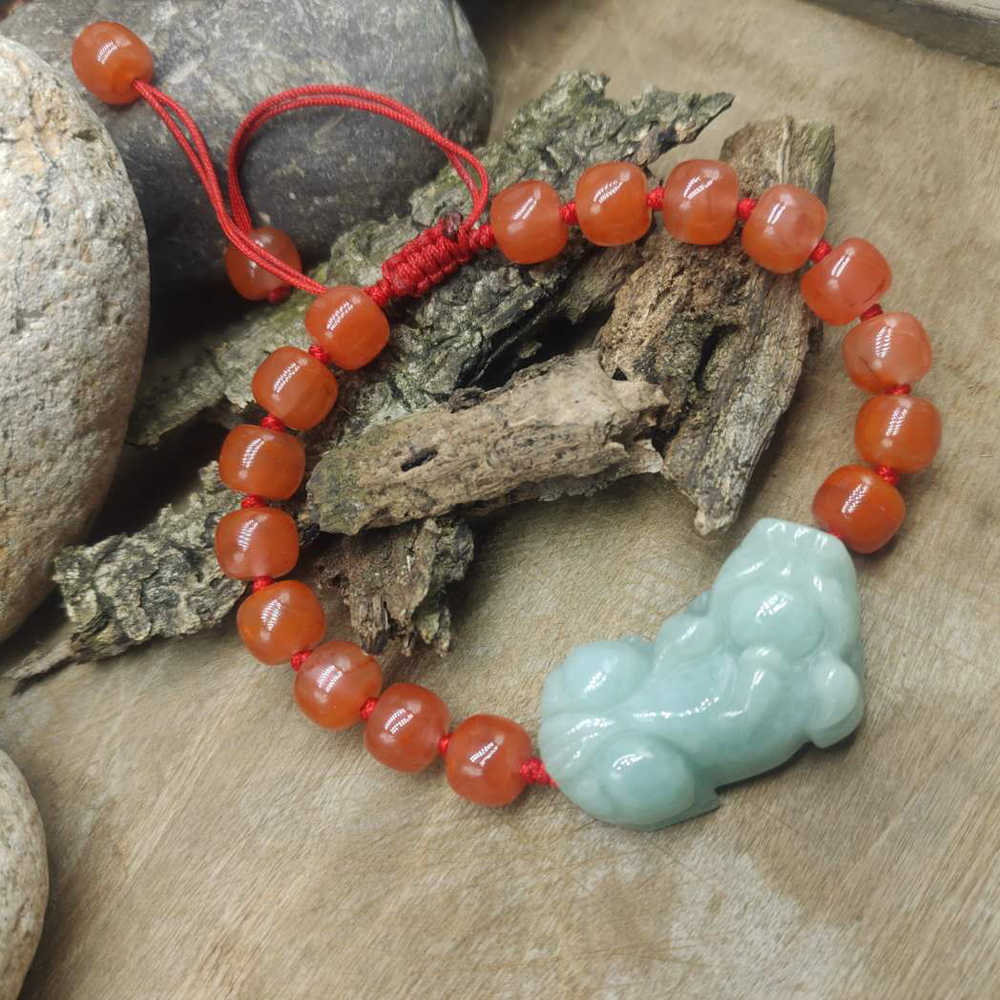 8 mm Chakra Bracelet Jewelry Handmade top Natural precious spittor South red stone Bead Mala Bracelet charm bracelet women