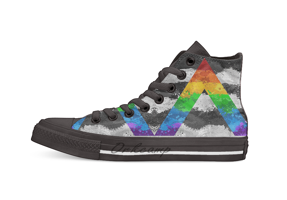 Brazil Flag LGBT Flag Fashion Canvas Shoes Sneakers Mens Womens High-Top Casual Shoes for Dancing Outdoor Sports