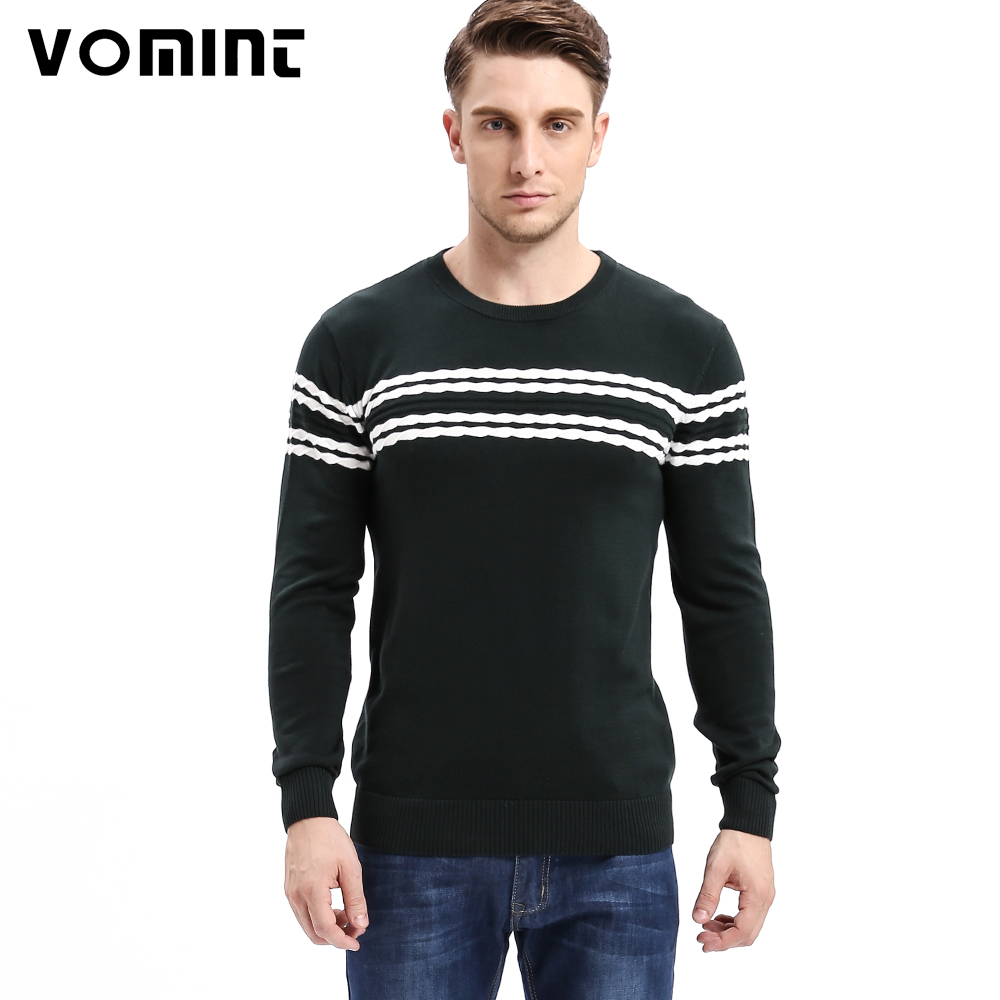 Vomint 2017 Men's Knitted Sweater Patterns Striped thick ...