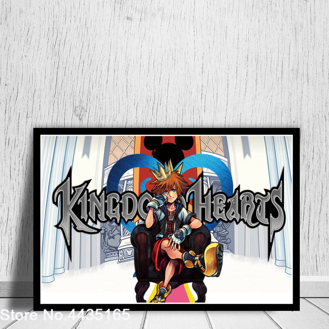 Posters and Prints Kingdom Hearts Game Art Poster wall art Picture Canvas Painting for Modern Living Room Home Decoration 4