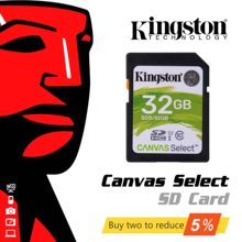 Kingston-tarjeta de memoria Original, 16gb, 32gb, 64gb, 128g, SD, 10 niveles, Flash, SDHC, SDXC, UHS-I, Clase 10