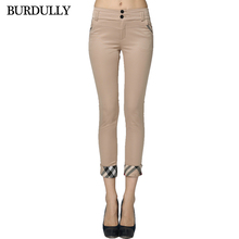 BURDULLY High Quality Summer Formal Women Casual Pants 2017 Cotton Slim Pencil Trousers Elegant Office Work Long Pants Plus Size