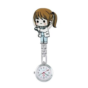 ALK Fob Nurse Pocket Watches Quartz Brooch Medical Watch Cartoon Cute Kawaii Patterns Doctor Clock Gifts Hospital Dropshipping