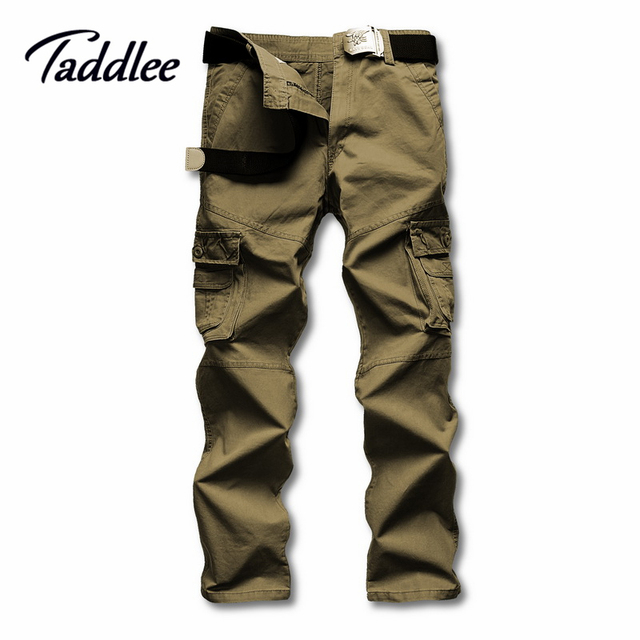 Taddlee Brand Man Multi-pocket Long Military Pants Male Work Cargo Overalls Loose Camouflage Pants Leisure Straight Trousers