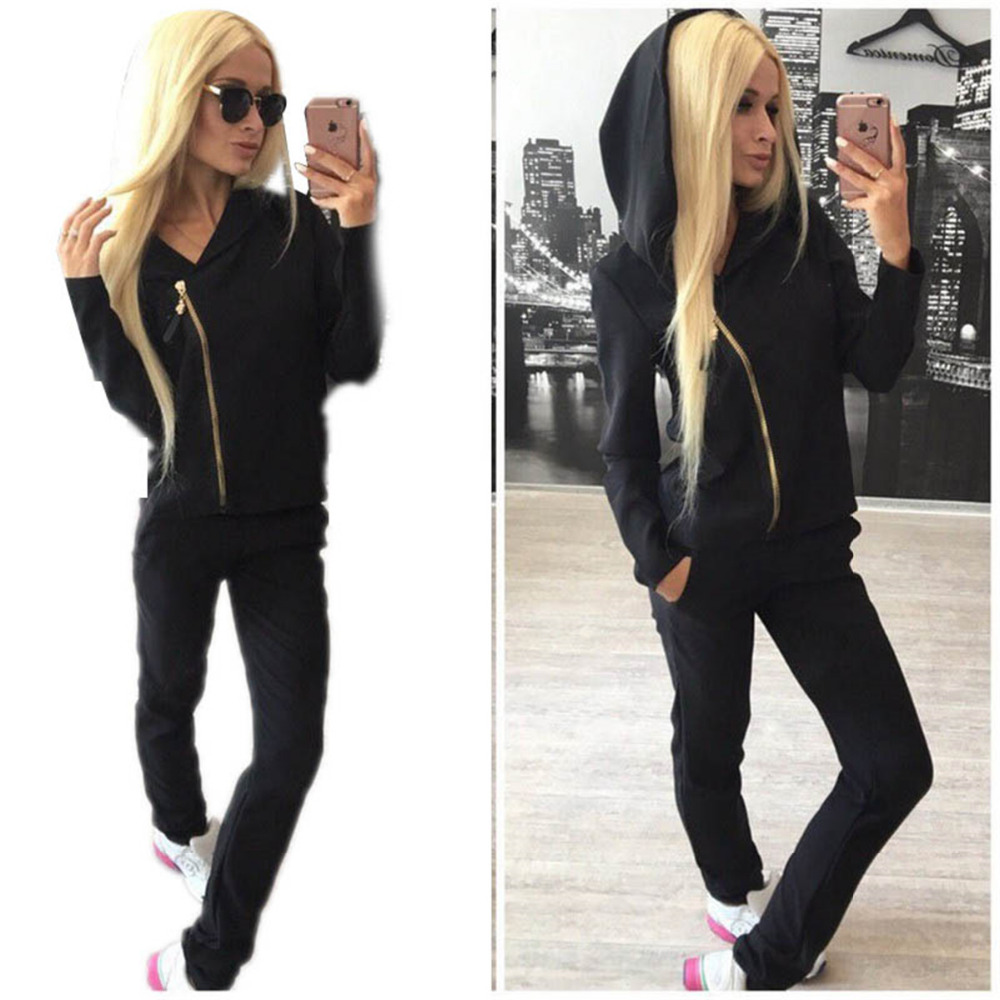 Outdoor Cycling Sets Women Sport Suit  Running Set Yoga Sportswear Tracksuit Gym Fitness Hoodie Sport Suits Women 2017 women yoga sets 3 pieces t shirt bra pants fitness workout clothing women gym sports tops running slim leggings sport suit