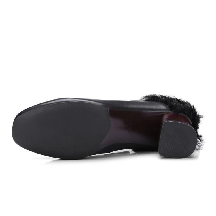Nuevos Cuadrado Zapatos Moda marrón Cuero Mujeres Alto Las Grueso Mujer {zorssar} Negro Tacón De Genuino Bombas Vestido Piel Del 2018 Dedo La Pie wPqHW5xg0