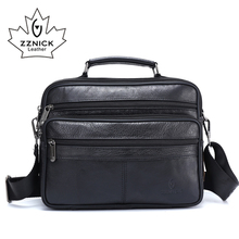 Zzنيك الرجال حقيبة ساع جلد طبيعي فاخر الرجال حقيبة مصمم عالية الجودة حقيبة كتف عادية زيبر حقائب مكتبية للرجال