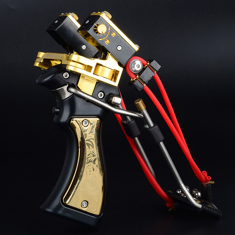 Professional Red Laser Slingshot Powerful Fishing Catapult Bow Stainless Steel Slingshot Outdoor Hunting Tool Accessories (3)