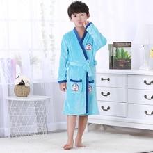 Мягкий модный халат, детский халат для девочек, фланелевый банный халат с героями мультфильмов для мальчиков, флисовый халат унисекс по низкой цене, WL864