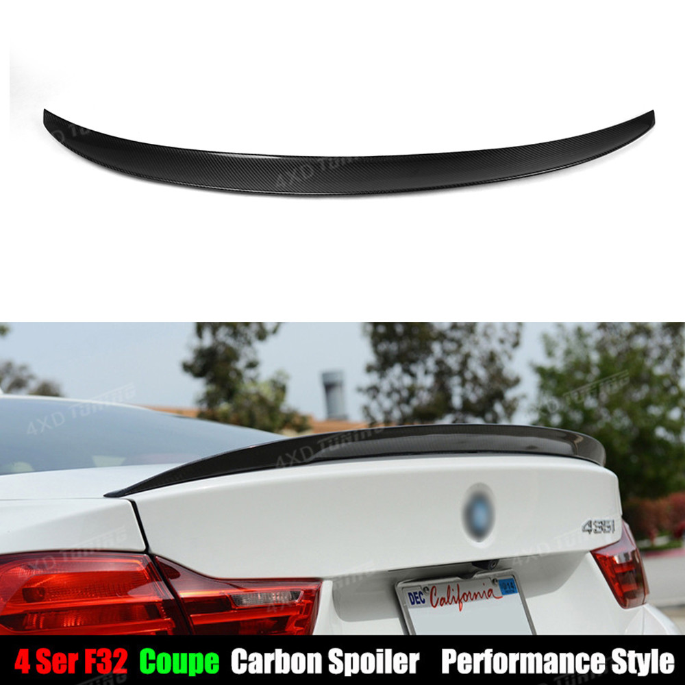 For BMW F32 Carbon Spoiler Performance Style 4 Series Coupe 420i 428i 430i 435i F32 Carbon Fiber Rear Spoiler Trunk Wing 2014-UP carbon fiber auto front lip splitter flags for bmw 4 series f32 f33 435i m sport coupe & convertible 2 door 2014 2016 page 1