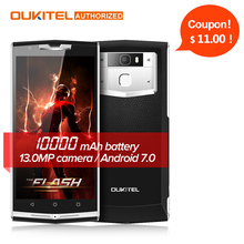 """$30 Gift Bag!! 10000mAh Quick Charge Oukitel k10000 pro 4G Mobile Phone 5.5"""" FHD 3GB 32GB Android 7.0 13.0MP Rear Smartphone"""