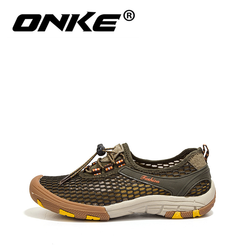 Onke Summer Breathable Walking Shoes Men Sneakers Comfortable Running Man Sports Quick Dry Beach Shoes Big Size 11