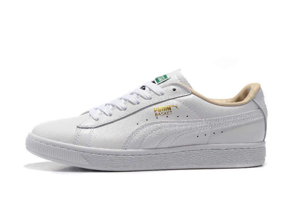 pretty nice 64ea0 ffc5e Free shipping 2018 Original BTS x Puma Collaboration Puma Court Star Korea  Cadet shoes men's Sneakers Badminton Shoes Size40-44