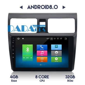 10.2'' Android 8.0 4G RAM Car Radio GPS Navigation Multimedia For SUZUKI SWIFT 2005-2010 Auto Stereo Satnav HeadUnit Audio Video image