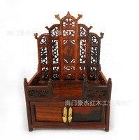 Redwood имитация Ming Мебель Миниатюрные красного дерева комод изысканный миниатюрная мебель