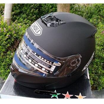 Flip Up motorcycle helmet full helmet Motorcycle Helmet ATV helmet Safety dual lens matte black, Capacete