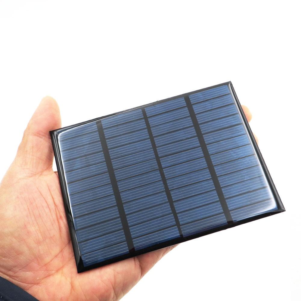 Polycrystalline DIY Battery Silicon 12V 1.5W Solar Panel Standard Epoxy Power Charge Module 115x85mm Mini Solar Cell