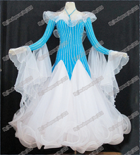 High Quality Waltz Tango dance Dress competitive Ballroom dance dress, crystal stones chacha,salsa dance ballroom dress B-0518