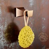 Copper Rose Gold Coat Hook European Hardware Bathroom Set Towel Hook Bath Ball Hook Bathroom Accessories YM093