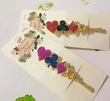Timlee H102 Free shipping Grace Poker Hair Clip Barrettes Girls Lovely Hair Accessary Gift