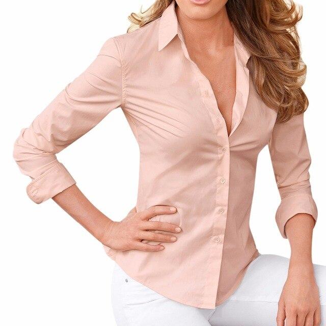 f84c58a32de Lisli Women's Button Up Shirts Solid Collared Sheer Long Sleeve Blouse  Clothes For Women Shirt 01B0622