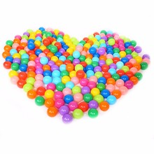 100pcs/lot Eco-Friendly Colorful Soft Plastic Water Pool Ocean Wave Ball Baby Toys Stress Air Ball Outdoor Sports Children's toy(China)