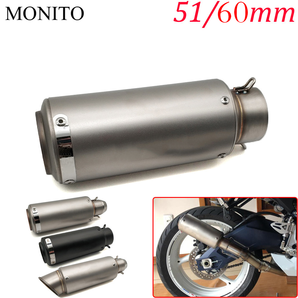 US $31 25 26% OFF|For YAMAHA vmax 1200 1700 v max tenere 700 xtz700 xjr1300  Motorcycle SC Exhaust Pipe Scooter Escape GP Exhaust Muffler Universal-in