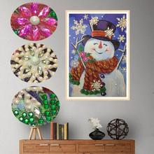 Special Shaped Diamond Painting Christmas snowman snowflake DIY 5D Partial Drill Cross Stitch Kits Crystal Rhinestone Arts K4