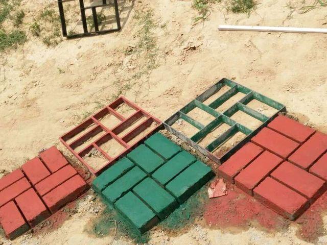 Pavement mold пластиковые путь чайник тротуарной конкретные формы для сада путь, мощения формы, pathmate лопатой 40*40*3 СМ