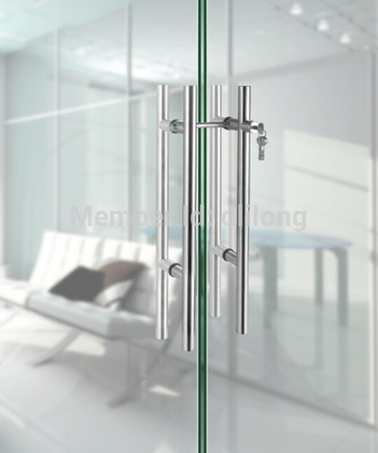 Stainless steel glass sliding door locks pull handles ...