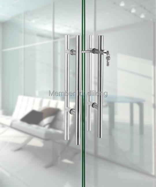 stainless steel glass sliding door locks pull handles 800mm