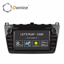 цена на Octa Core 2GB RAM Android 6.0 Car DVD Player For Mazda 6 Ruiyi Ultra 2008 2009 2010 2011 2012 4G Wifi Radio Stereo GPS