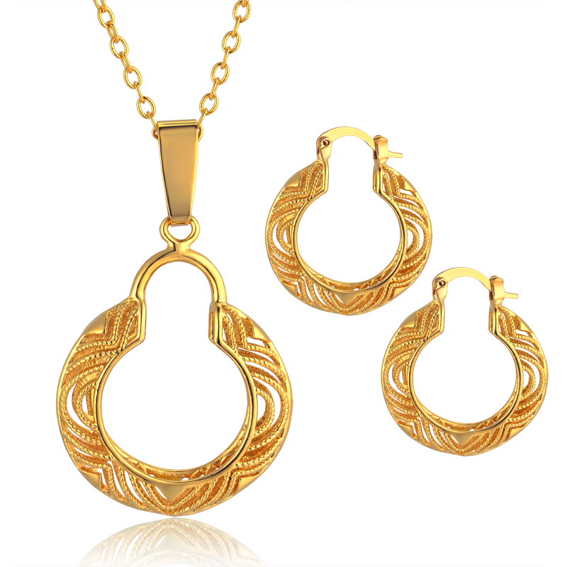 new necklace sets for women hollow out vintage earrings