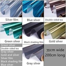 70x200 glass film sticker for window film transparent sunscreen paper shading mirror Self-adhesive film heat transfer vinyl
