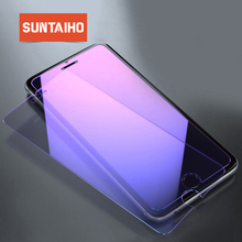 2pack Suntaiho Anti Blue Light Tempered Glass for iPhone XS Max XR 9H Screen Protector Anti-Scratch Glass Film for iPhone 8 7 6S
