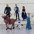 6 Unids/lote Disney Frozen PVC Figuras de Acción Juguetes Muñecas Modelo de la Historieta de Los Niños Adornos Micro Paisaje Del Anime Juguetes Figuras