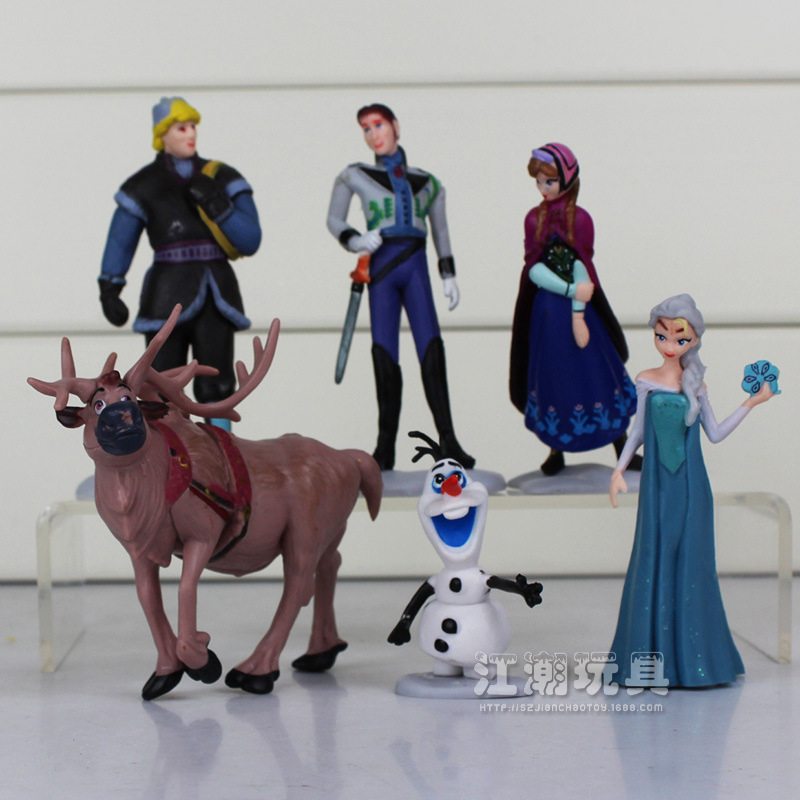 6Pcs/Lot Disney PVC Action Figures Frozen Cartoon Children