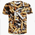Top Quality 2016 Summer New Brand Men's Short Cigarette/Bullet Sleeve T-shirt Fashion O-neck Casual 3d T shirt tshirt homme