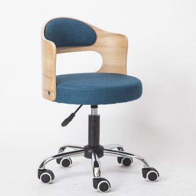 Луи Модные Офисные стулья из цельной древесины подъемная маленькая Квартира Компьютер современный минималистский студенческий обучающий стол Небольшой Поворотный - Цвет: G3