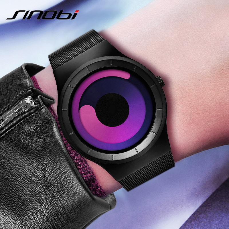 SINOBI Brand Science Fiction Kreativa Kvinnor Klockor Mode Ladies Quartz Watch Kvinnor Montre Femme 2019 Casual Relogio Feminino