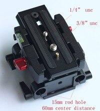 15 ミリメートルレールロッドクイックリリース qr ベースプレートフォローフォーカス railblocks カメラと三脚