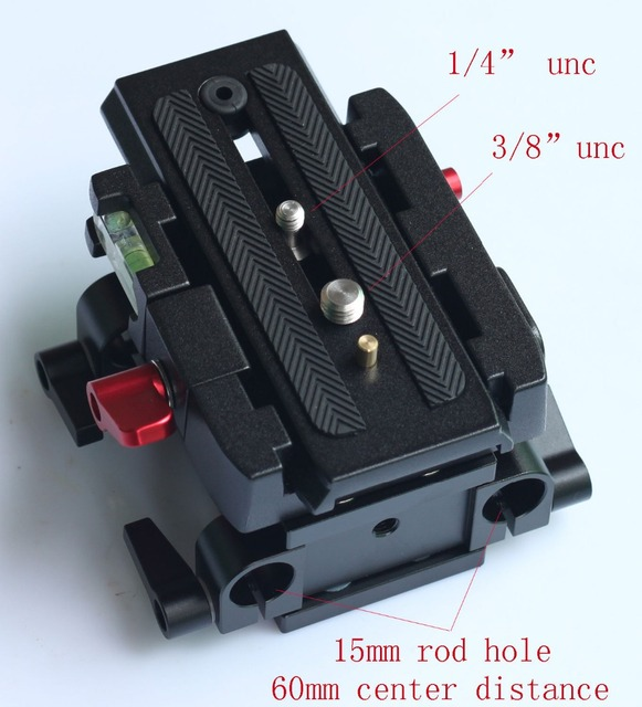 15mm Rail Rod Quick Release QR Baseplate For Follow Focus support DSLR Rig camera and tripod