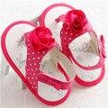 2016 Новый Дизайн Лето Хлопок Цветок Детские Девушки Принцесса Обувь для Новорожденных Малышей Первый Ходунки Мягкой Подошвой Обувь
