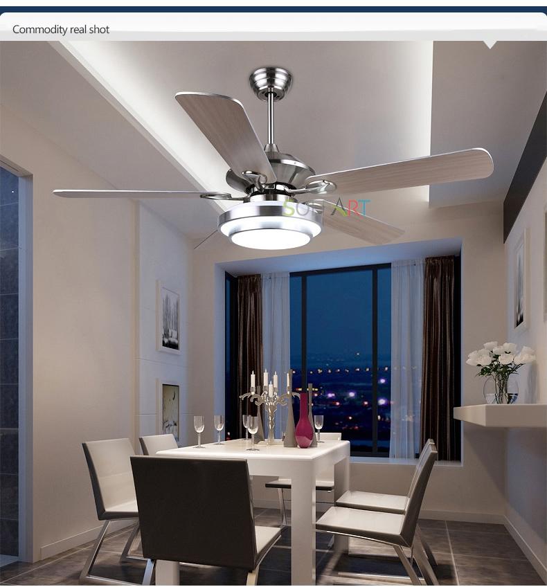 Sol Ceiling Fan Modern Led Wood