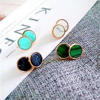 a Stany Zjednoczone kobiety Biżuteria minimalistyczne przywrócenie starożytnych sposobów okrągłe kolczyki naturalne kolczyki geometria