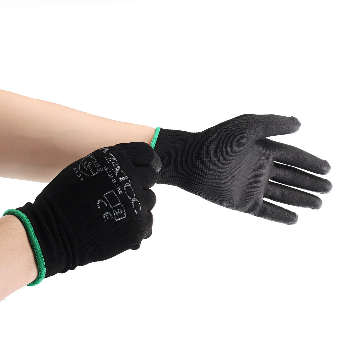 NEW Safurance 12Pairs PU Nitrile Coated Safety Work Gloves Garden Builders Grip Size M/L/XL Workplace Safety oris 658