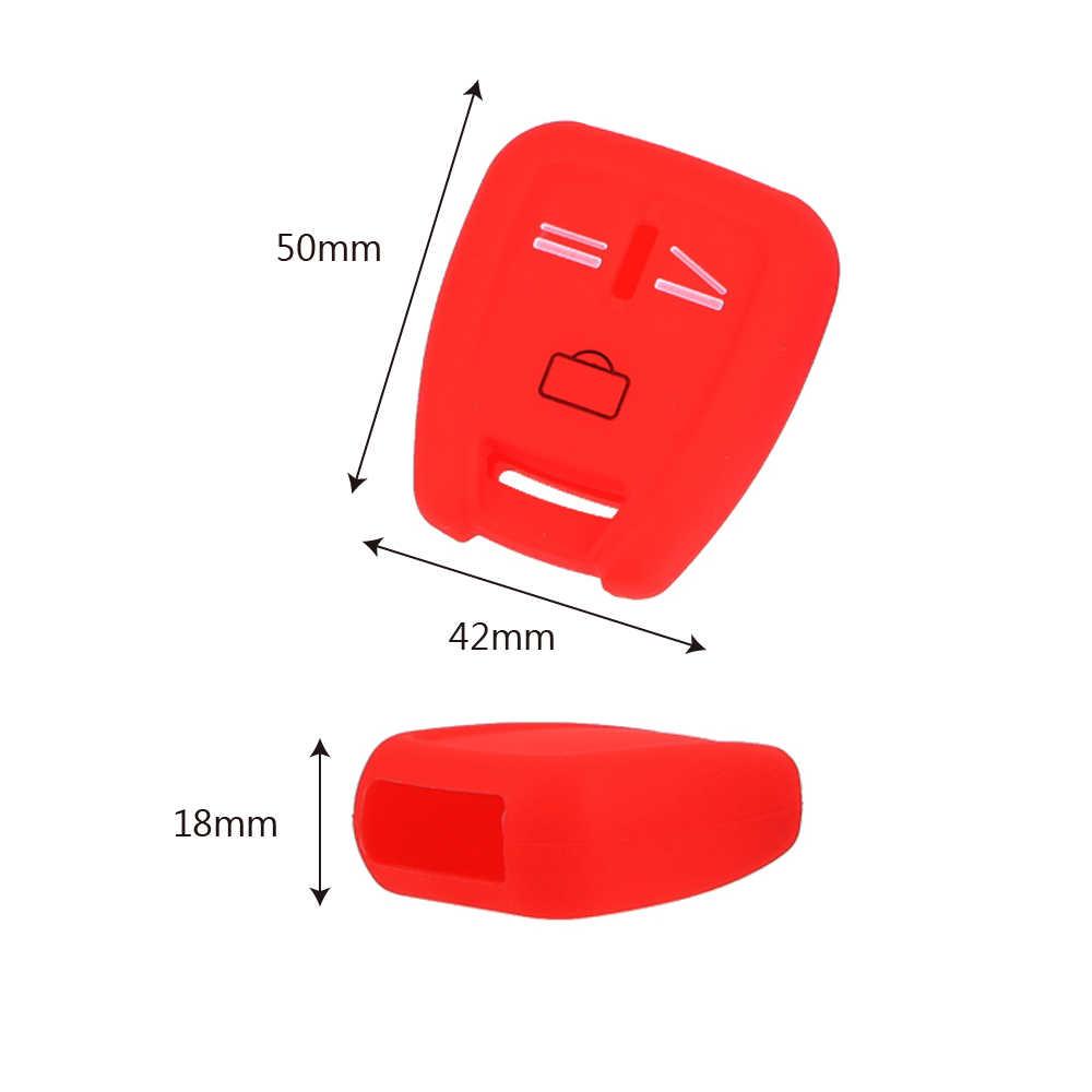 3 кнопки силиконовый чехол для ключей для автомобиля для VAUXHALL OPEL ASTRA Zafira Vectra Tigra Omega Signum Frontera чехол для ключей от автомобиля 3 цвета